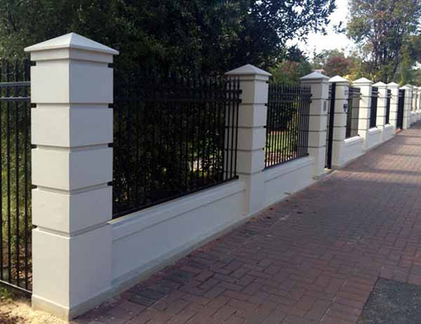 Contemporary Pillars and Tube Fence