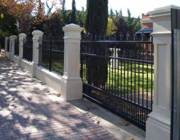 Pillar and Tube Front fence