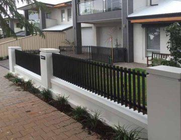 Slim Edge Steel Fence