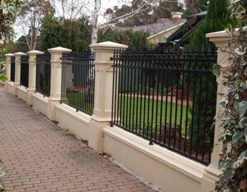 Pillar and tube fence