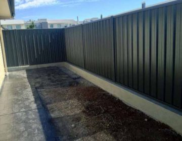 Panel Fencing with Under Fence Plinth
