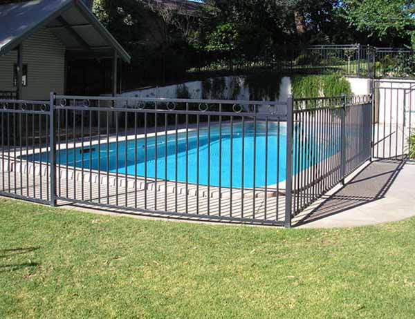 tube pool fence