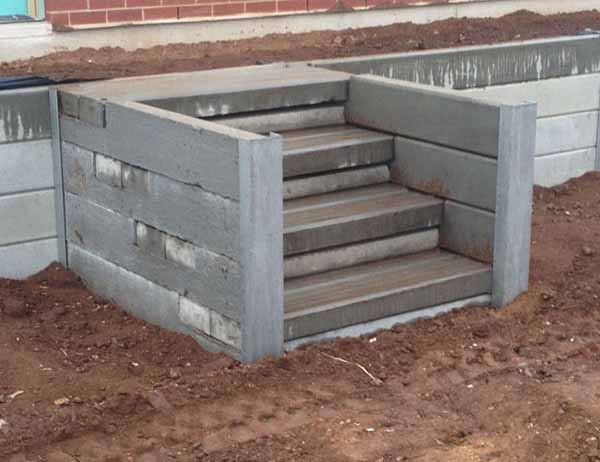 Retaining Walls And Concrete Sleepers Adelaide Fence Centre