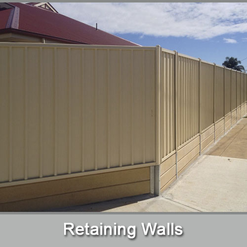 Adelaide fence centre design manufacture construct for Retaining wall contractors adelaide