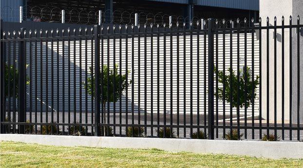 aluminium steel tubular fence